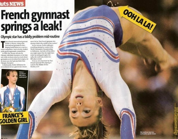 Olympian Body – How Would You Pad This Incontinence Problem?