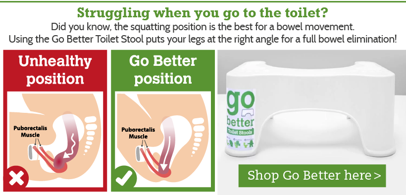 Reduce toilet strain with the Go Better Toilet Stool