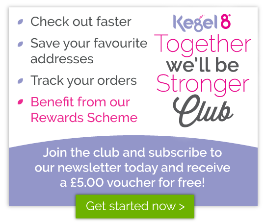 Join the Kegel8 Together We'll Be Stronger Club - Reward Points Scheme