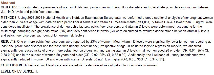 Vitamin D Clinical Evidence