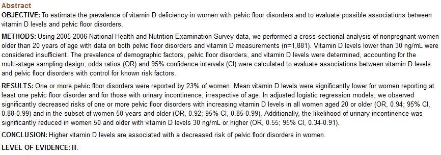 Vitamin D Clinical Evidence