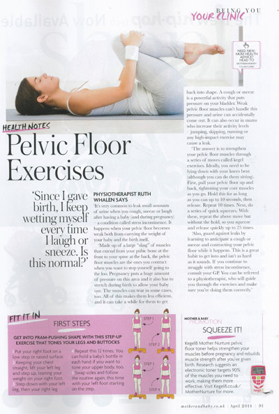 Kegel8 in Mother & Baby Magazine